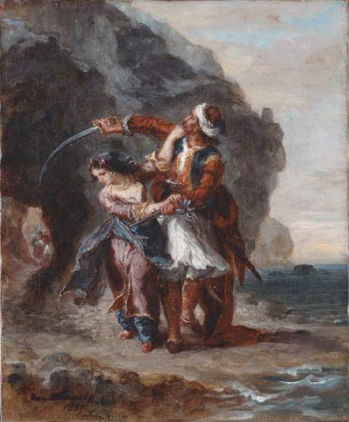 Eugene Delacroix, Selim and Zuleika, 1857