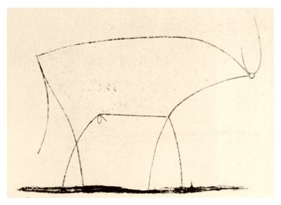Pablo Picasso, Bull - plate 11, January 17, 1946 - How to Teach Abstract Art
