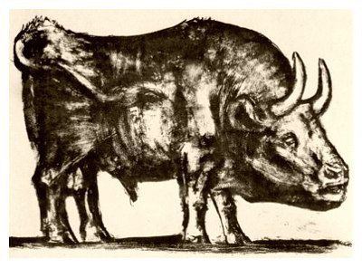 Pablo Picasso, Bull - plate 2, December 12, 1945 - How to Teach Abstract Art
