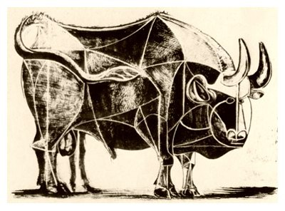 Pablo Picasso, Bull - plate 4, December 22, 1945 - How to Teach Abstract Art