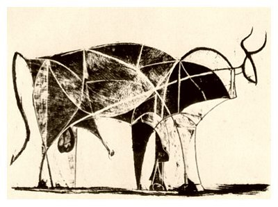 Pablo Picasso, Bull - plate 6, December 26, 1945 - How to Teach Abstract Art
