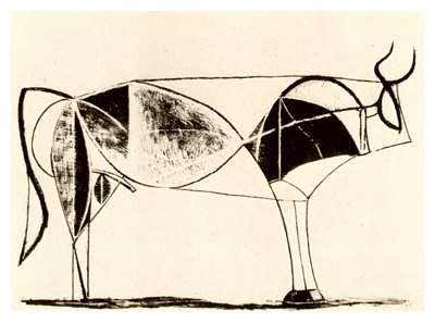 Pablo Picasso, Bull - plate 7, December 28, 1945 - How to Teach Abstract Art