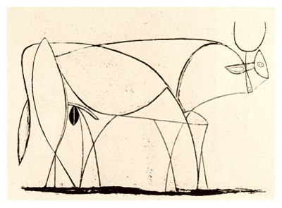 Pablo Picasso, Bull - plate 9, January 5, 1946 - How to Teach Abstract Art