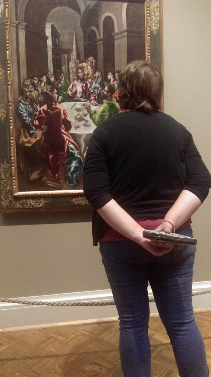 Cindy at Museum - art senses