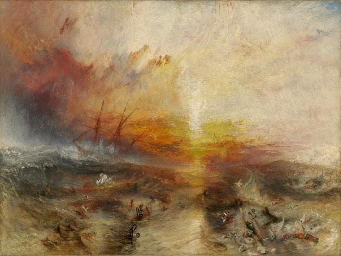 JMW Turner, The Slave Ship, 1840 - 5 senses art