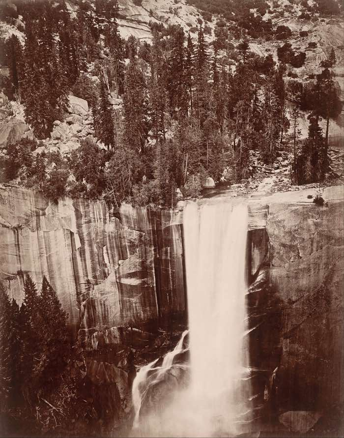 Eadweard Muybridge, Vernal Falls, Yosemite, 1872