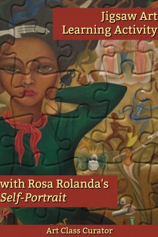 Rosa Rolanda Jigsaw Art Learning Activity - PIN