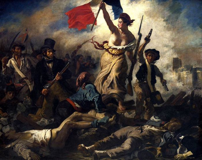 Eugène Delacroix, Lady Liberty Leading the People, Louvre Museum, Paris
