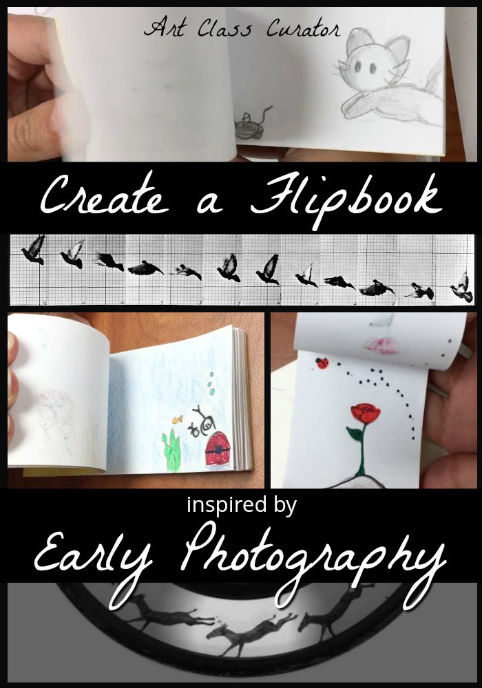 High School Photography Lesson and Flip books for kids Muybridge - PIN