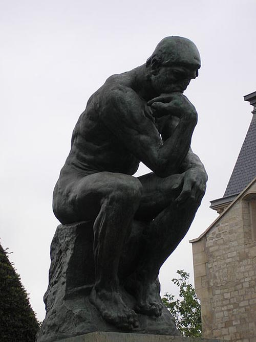 Auguste Rodin, The Thinker, Rodin Museum, Paris, Photo Credit: deror avi