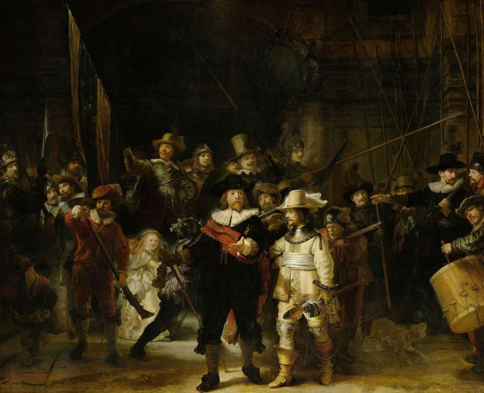 Rembrandt, The Nightwatch, 1642, Rijksmuseum, Amsterdam