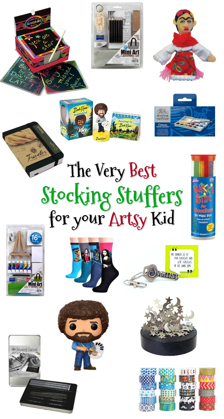 The Very Best Stocking Stuffers for your Artsy Kid - Fun Art Gifts for Kids