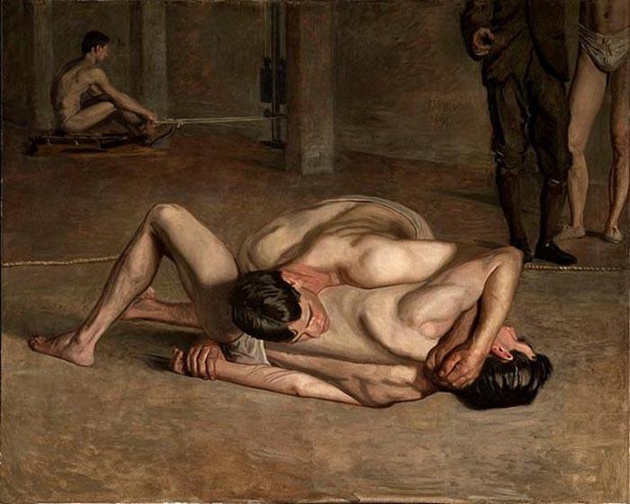 Thomas Eakins - Wrestlers