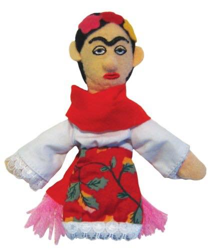 frida kahlo finger puppet gift for artsy teen