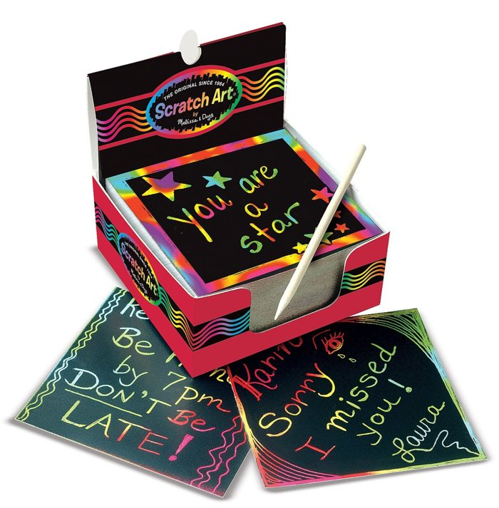 scratch art notepad - art gifts for kids