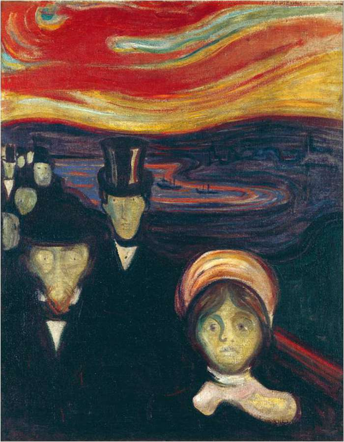 Edvard Munch Frieze of Life, Anxiety, 1894