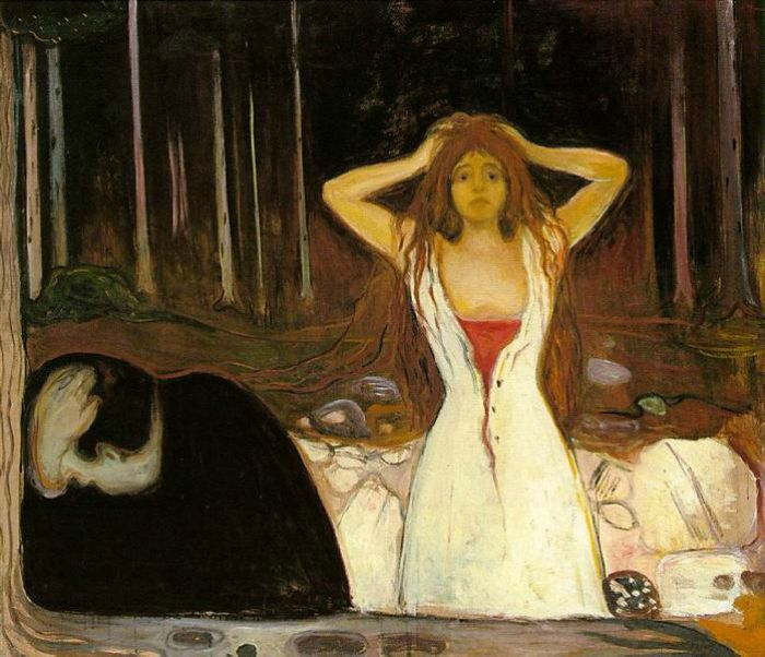 Edvard Munch Frieze of Life, Ashes, 1894