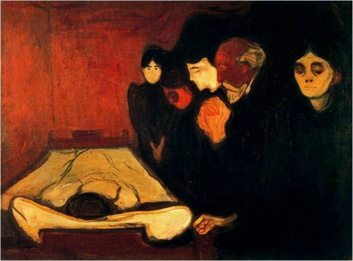 Edvard Munch Frieze of Life, By The Deathbed (Fever), 1893