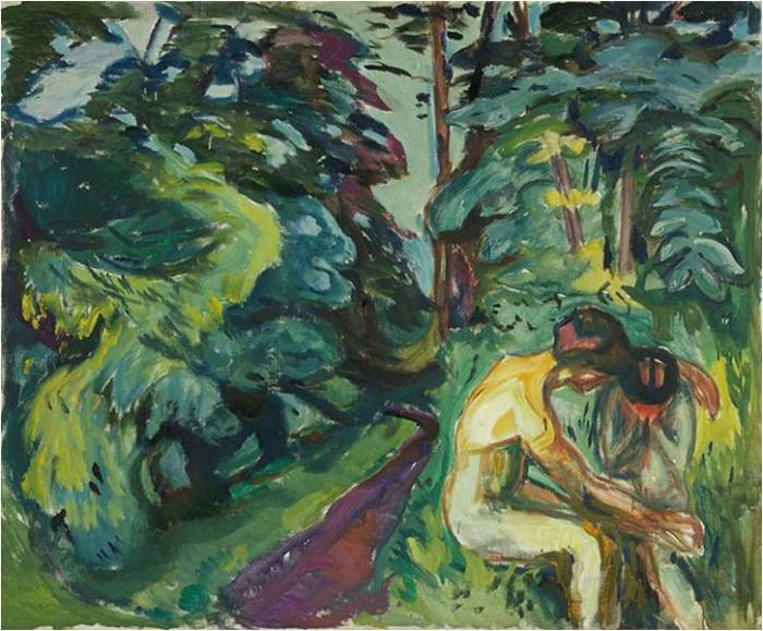 Edvard Munch Frieze of Life, Consolation in the Forest, 1924-25