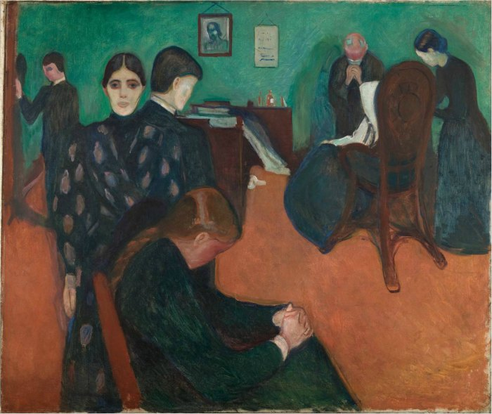 Edvard Munch Frieze of Life, Death in the Sickroom, 1893