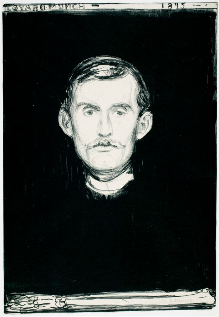 Edvard Munch Self-Portrait with Skeleton Arm