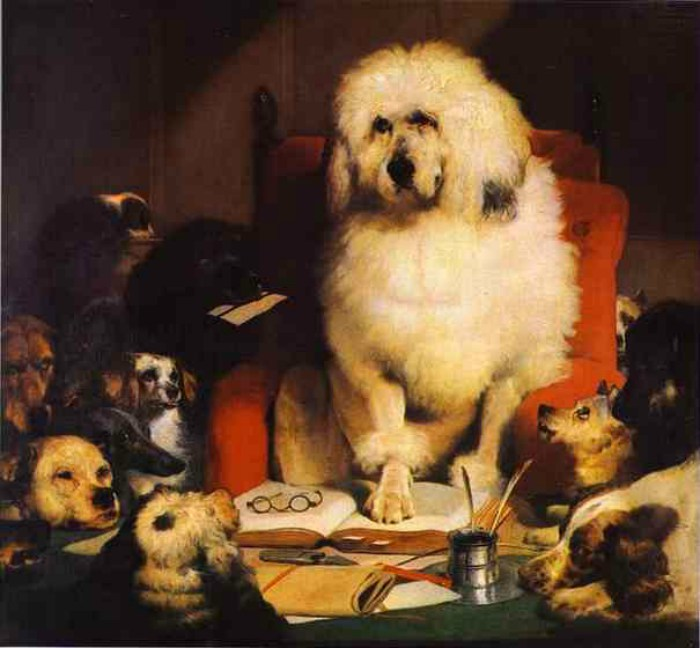 Dogs in Art - Edwin Henry Landseer, Laying Down the Law, 1840