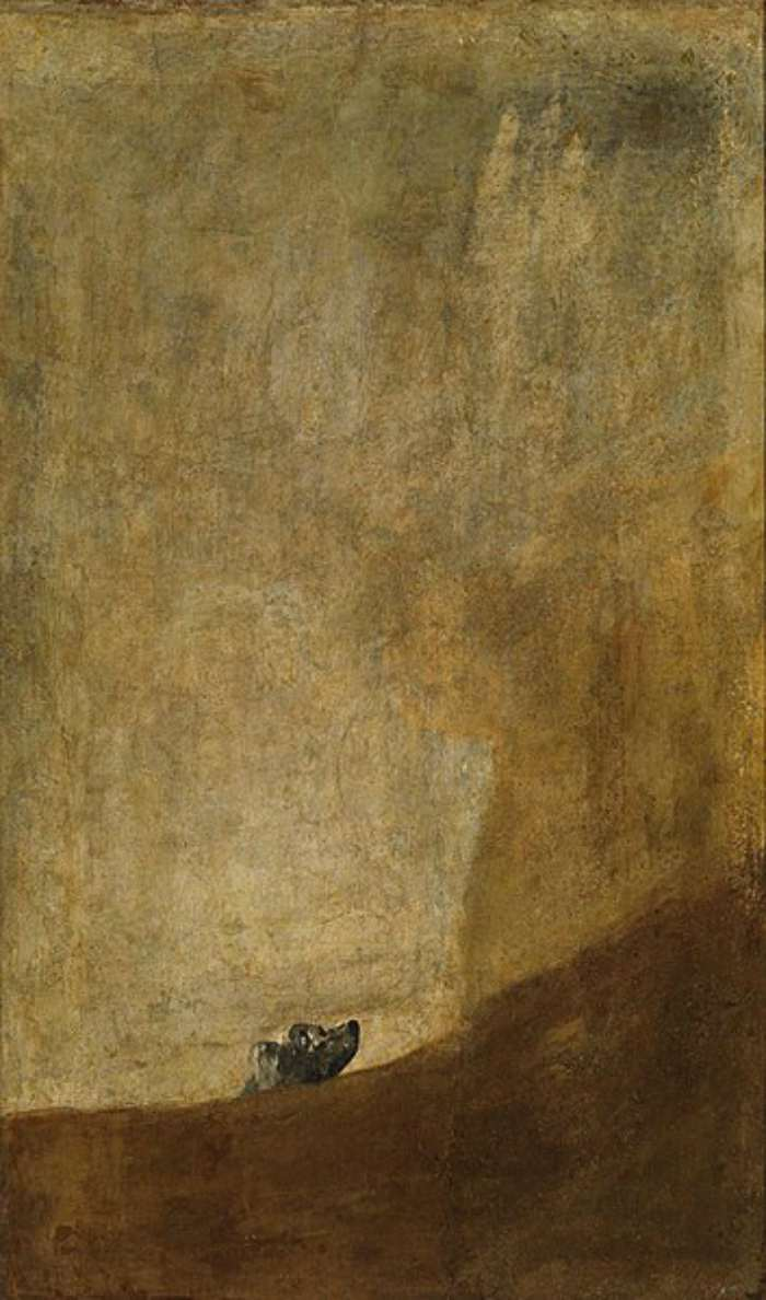 Dogs in Art - Francisco Goya, The Dog, circa 1819-1823