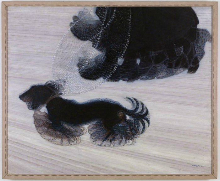 Dogs in Art - Giacomo Balla, Dynamism of a Dog in a Leash, 1912