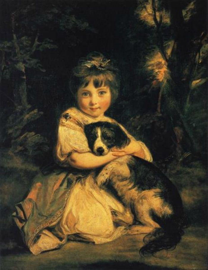 Dogs in Art - Joshua Reynolds, Miss Bowles, 1775