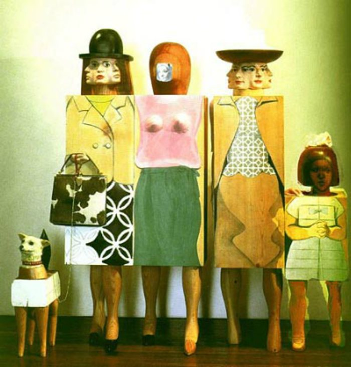 Dogs in Art - Marisol Escobar, Women and Dog, 1964