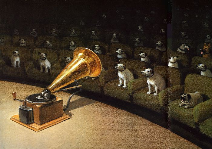 Dogs in Art - Michael Sowa, Their Masters Voice