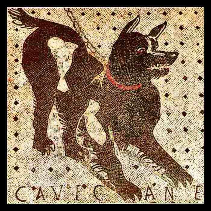 Dogs in Art - Pompeii Italy, Beware of the Dog