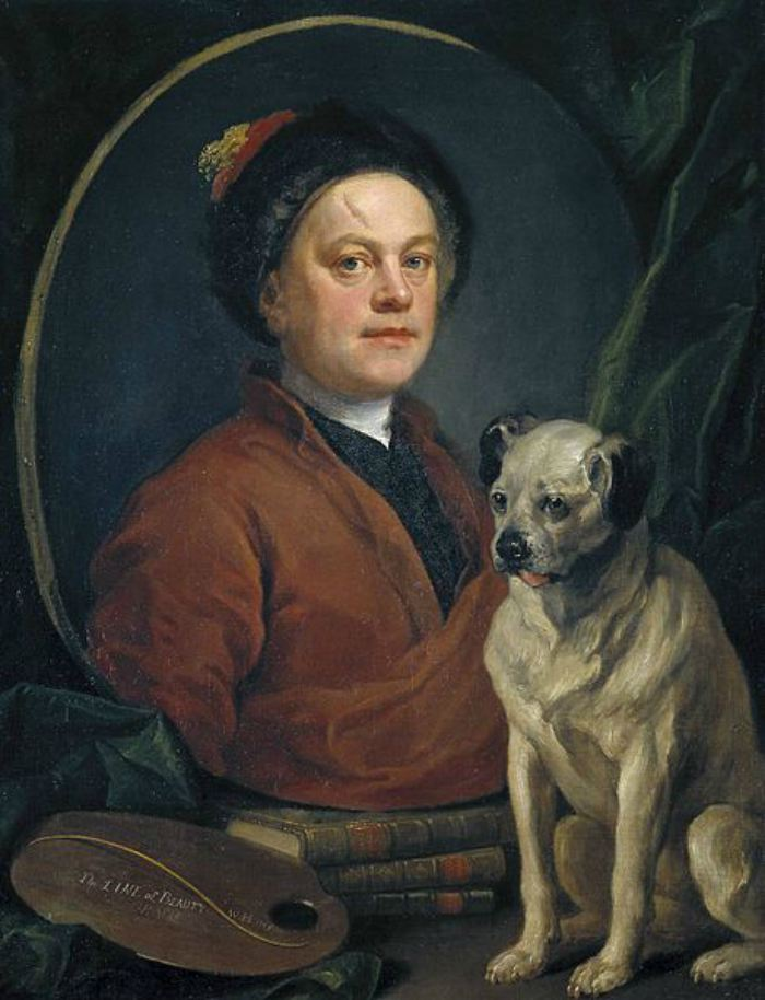 Dogs in Art - William Hogarth, Painter and His Pug, 1745