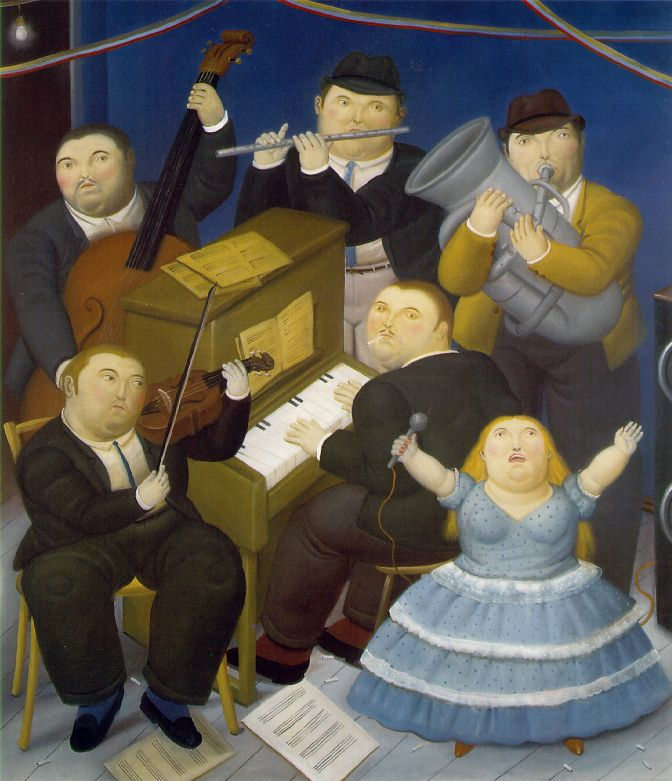 principles of art unity Fernando Botero, The Musicians, 1991