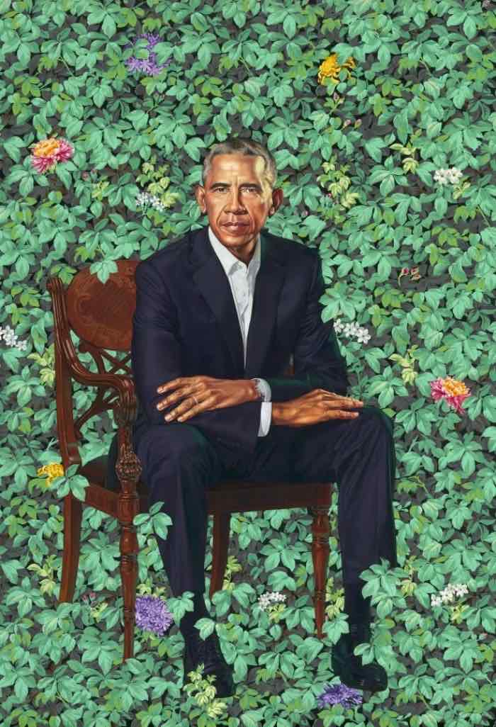 Kehinde Wiley, Barack Obama, 2018