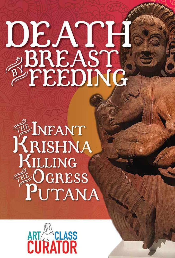 Death by Breastfeeding: The Infant Krishna Killing the Ogress Putana Hindu artwork