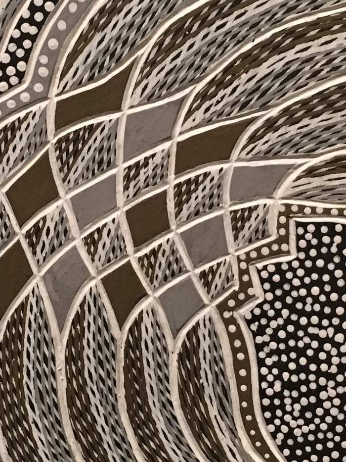 Australian Aboriginal Art for Kids - Gunybi Ganambarr, Baraltja, 2009 (detail)