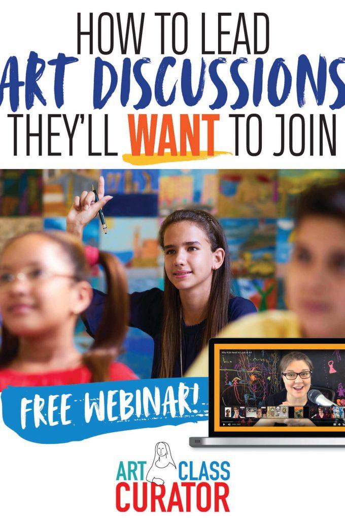 free art teacher training webinar
