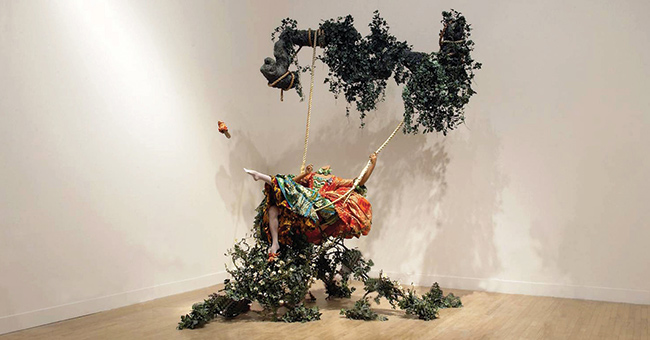 Yinka Shonibare The Swing (after Fragonard)
