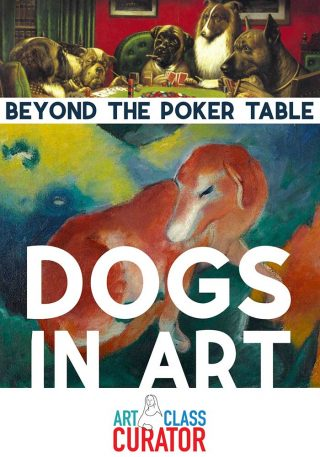 Beyond Dogs Playing Poker Dogs in Art-pin