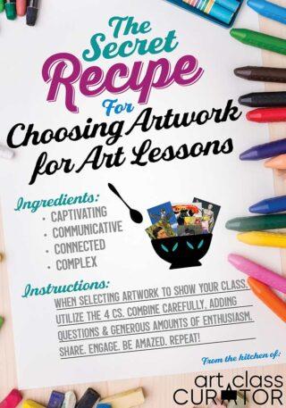 choosing an artwork art teacher