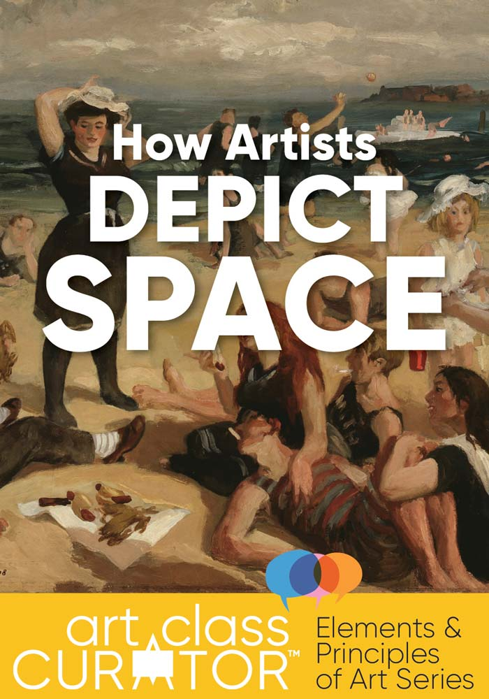 The Art Curator for Kids - How Artists Depict Space - Masterpiece Monday - John Sloan , South Beach Bathers, 1907-1908, Art Lessons for Kids - Elements of Art Lessons