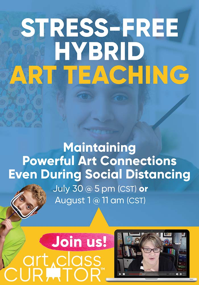 hybrid art teaching social distancing