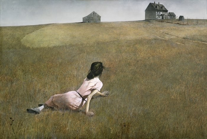 Andrew Wyeth, Christina's World, 1948 elements and principles of art scale in art examples