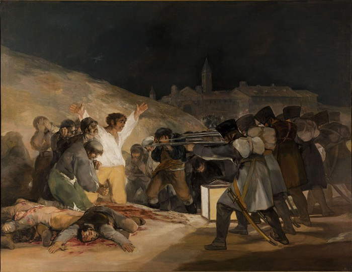 Francisco Goya, The Third of May 1808, 1814 principles of design emphasis in art examples