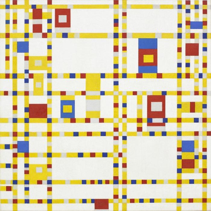 Piet Mondrian, Broadway Boogie-Woogie, 1942-43 rhythm principles of design examples