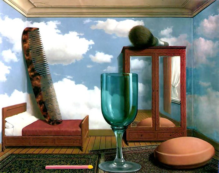 Rene Magritte, Les valeurs personnelles (Personal Values), 1952 scale in art examples principles of design