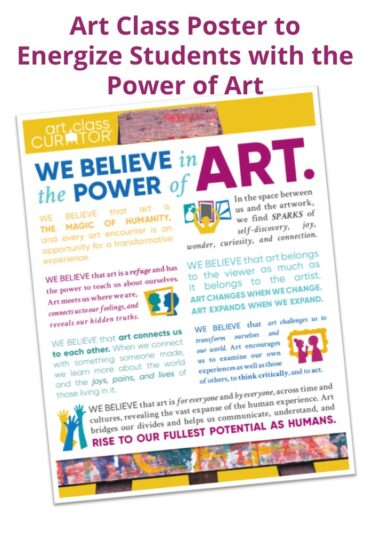 Art Class Poster to Energize Students with the Power of Art