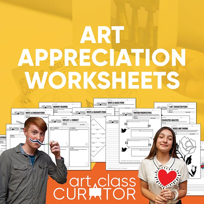 Art Appreciation Worksheet Bundle
