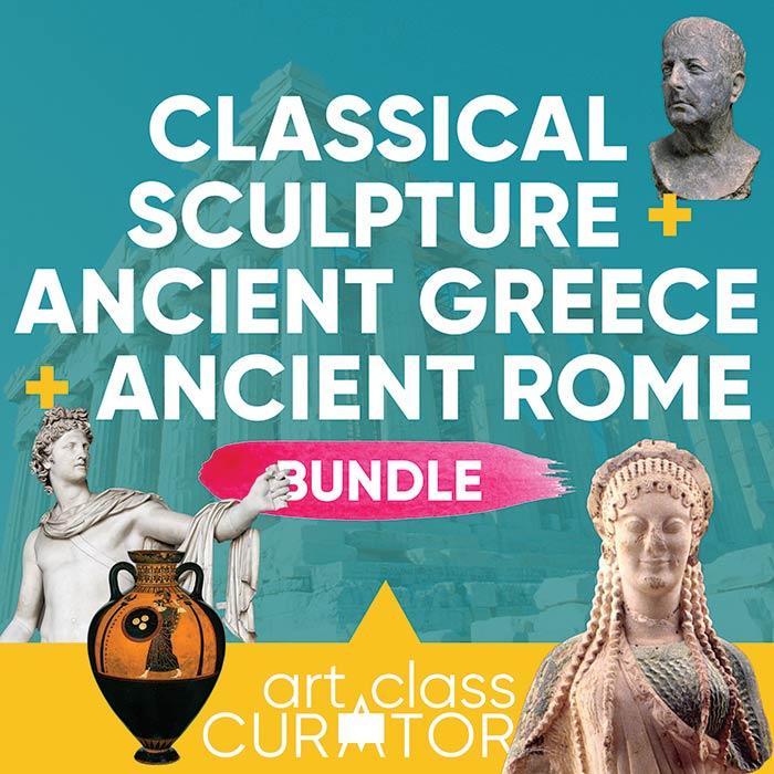 Classical Sculpture, Ancient Greek, & Ancient Rome Lesson Bundle